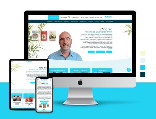 דוד פרלה – מיתוג מחדש ועיצוב אתר